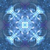 Water themed fractal mandala, digital artwork for creative graphic design — Stockfoto