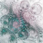 Glossy green fractal swirls, digital artwork for creative graphic design — Photo