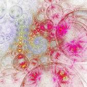 Light fractal swirly pattern, digital artwork for creative graphic design — Photo