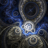 Shiny fractal clockwork, digital artwork for creative graphic design — Foto de Stock