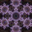 Dark violet fractal mandala, digital artwork for creative graphic design — Stock Photo