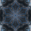 Dark fractal mandala, digital artwork for creative graphic design — Stock Photo
