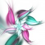 Light purple and green fractal flower, digital artwork for creative graphic design — Stock Photo