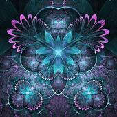 Dark fractal floral pattern, digital artwork for creative graphic design — Stock Photo