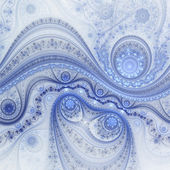 Blue fractal clockwork pattern, digital artwork for creative graphic design — Stock Photo