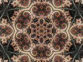 Orange floral mandala, digital artwork for creative graphic design — Stock Photo