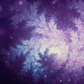 Fractal tree branches, winter themed, digital artwork for creative graphic design — Stock Photo