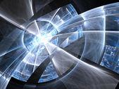Blue fractal lines, digital artwork for creative graphic design — Stock Photo