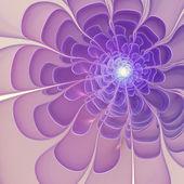 Violet fractal bloem, digitale kunst voor creatieve grafisch ontwerp — Stockfoto