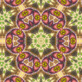 Light colorful fractal mandala, digital artwork for creative graphic design — Zdjęcie stockowe