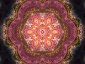 Pink fractal mandala, digital artwork for creative graphic design — Stock fotografie