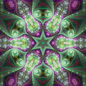 Colorful fractal mandala, digital artwork for creative graphic design — Zdjęcie stockowe