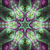 Colorful fractal mandala, digital artwork for creative graphic design — Stock Photo