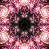 Pink fractal mandala, digital artwork for creative graphic design — Стоковое фото