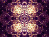 Gold clockwork fractal pattern, digital artwork for creative graphic design — Stock Photo
