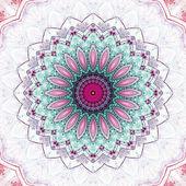 Light colorful mandala, digital artwork for creative graphic design — Stock fotografie