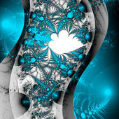 Blue fractal thorny pattern, digital artwork for creative graphic design — Стоковое фото
