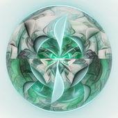 Abstract fractal planet - Uranus, digital artwork for creative graphic design — Foto de Stock