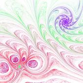 Light colorful fractal spirals, digital artwork for creative graphic design — Stock Photo