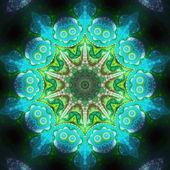 Water themed fractal machine, digital artwork for creative graph — Stock Photo