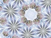 Violet floral pattern, digital fractal art, abstract illustratio — Stock fotografie