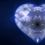 Blue fractal heart, valentine's day motive, digital artwork for creative graphic design — Stock Photo