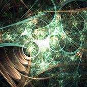 Organic fractal floral pattern, digital artwork for creative graphic design — Stock Photo