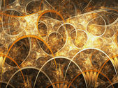 Gold organic fractal texture, digital artwork for creative graphic design  — Stock Photo