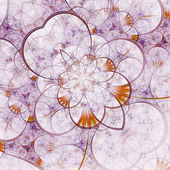 Lehké fraktální květina, digitální kresba pro kreativní grafický design — Stock fotografie