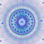 Světle modrá fraktální mandaly, digitální kresba pro kreativní grafický design — Stock fotografie