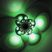 Dark green fractal spirals, digital artwork for creative graphic design — Stock fotografie