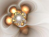 золото фрактал сучки, цифровые изображения для творческого графического дизайна — Стоковое фото