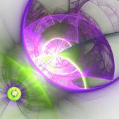 Colorful fractal spheres, digital artwork for creative graphic design — Stock Photo