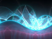 Glowing blue fractal, digital artwork for creative graphic design — Stockfoto