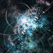 Abstract fractal gears, digital artwork for creative graphic design — Stock Photo