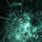 темно зеленый фрактальный узор, цифровые изображения для творческого графического дизайна — Стоковое фото