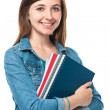 Student girl with books — Stock Photo #12622367
