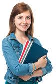 女学生用书 — 图库照片