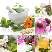 Homeopathy Collage — Foto Stock
