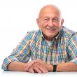 Portrait of a happy senior man smiling — Foto Stock