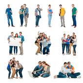 ομάδα φοιτητών组的学生 — 图库照片