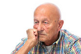 Portrait of a thoughtful senior — Stock Photo