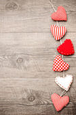 красные сердца — Стоковое фото