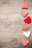 červená srdce — Stock fotografie