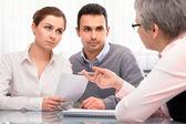 Consulta de planejamento financeira — Foto Stock