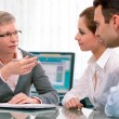 Financial planning consultation - Foto Stock