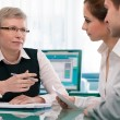 Stockfoto: Financial planning consultation