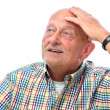 Senior man looking up — Stock Photo