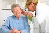 Otolaryngologycal exam — Stockfoto