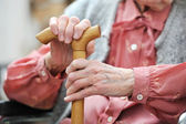 Old woman's hands — Foto de Stock